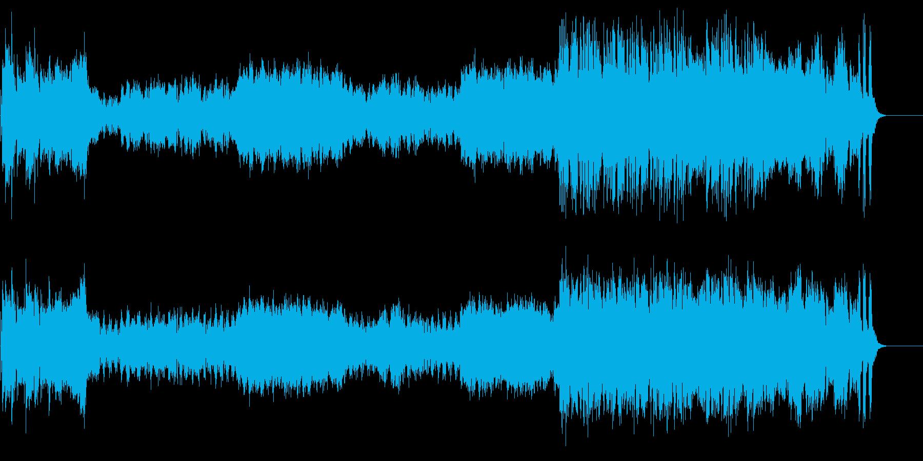 期待のオープニングテーマ風オーケストラの再生済みの波形