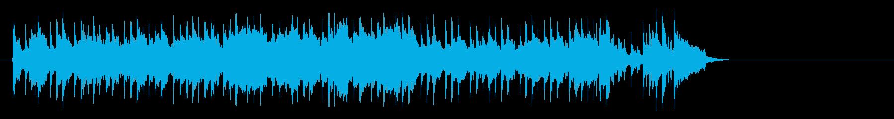 昼下がりの洋風ポップス(サビ~エンド)の再生済みの波形