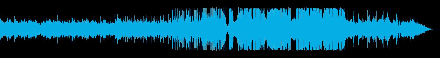緩やかでミディアムテンポなテクノポップの再生済みの波形