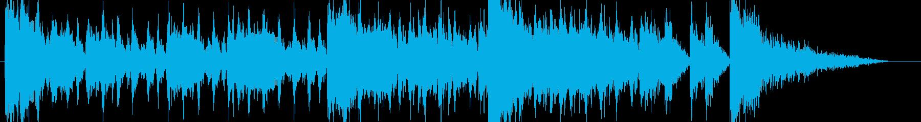 バトルアクション系のオーケストラBGM2の再生済みの波形