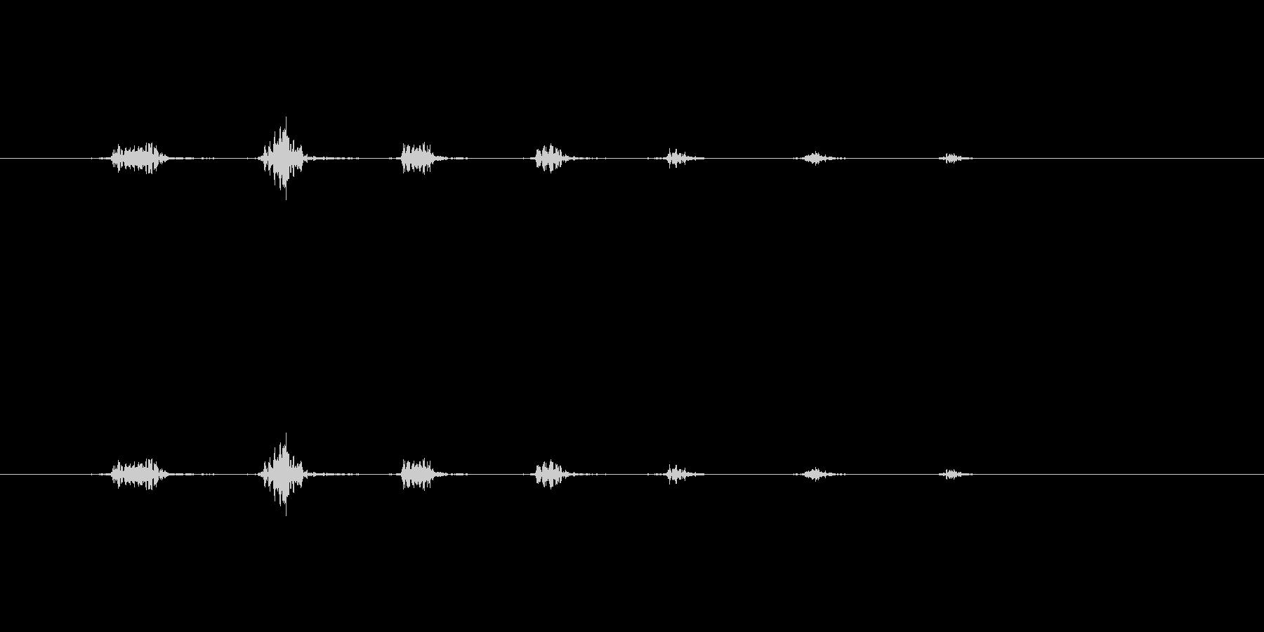 ハッハッハ(悪の黒幕)の未再生の波形
