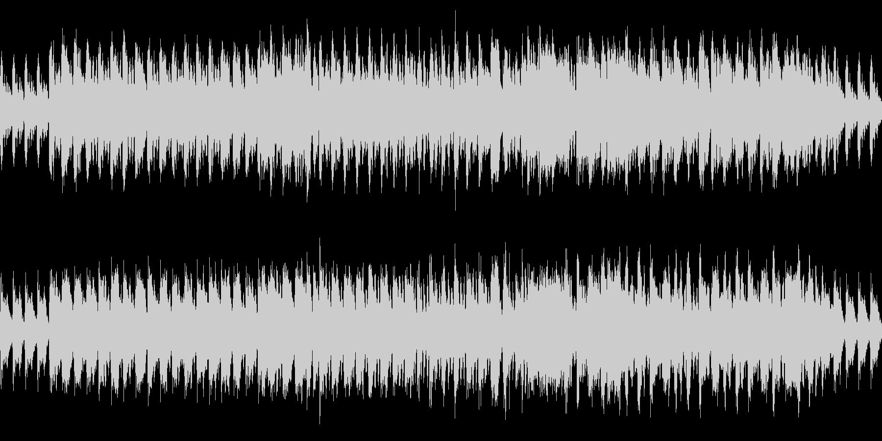 木管楽器のコミカルで怪しげな曲の未再生の波形