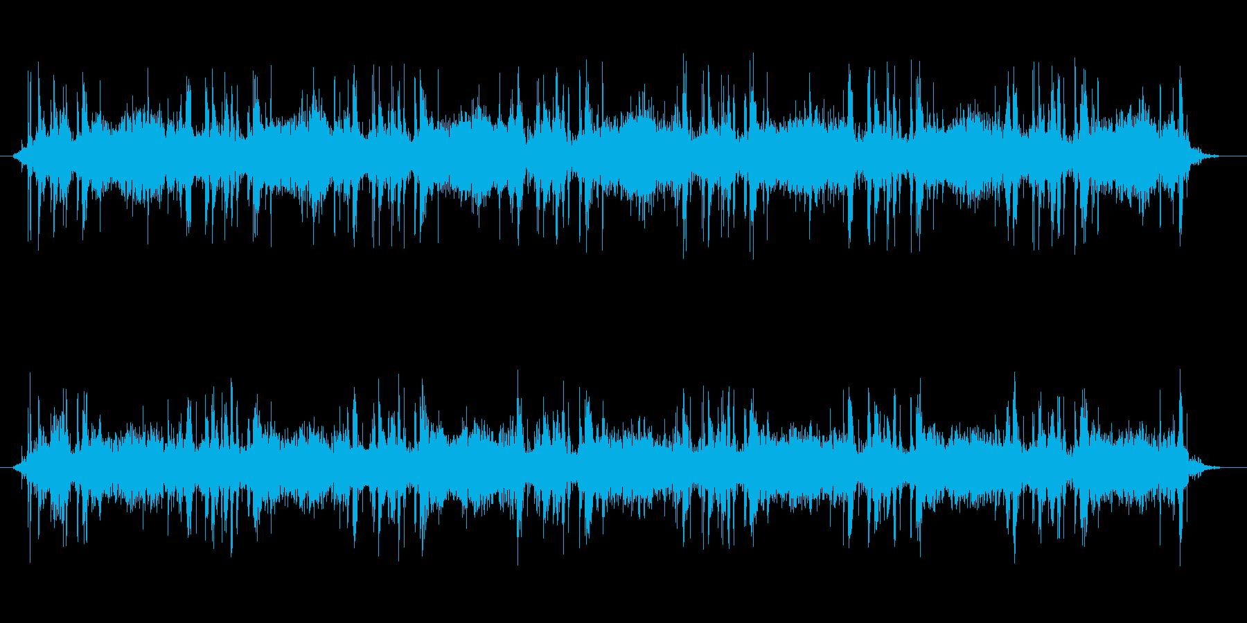 カメラの連続シャッター音の再生済みの波形