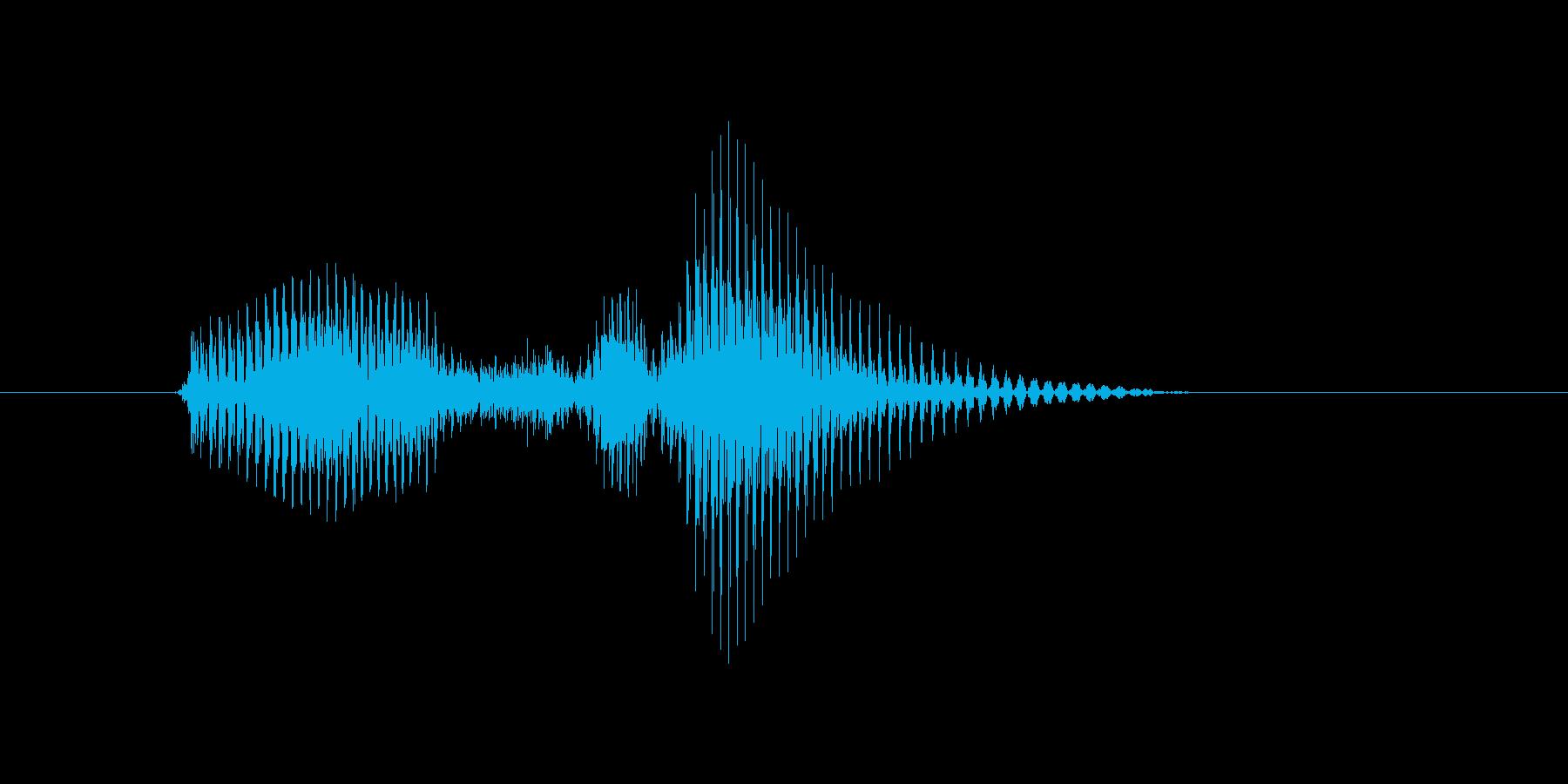 ベースラインの再生済みの波形