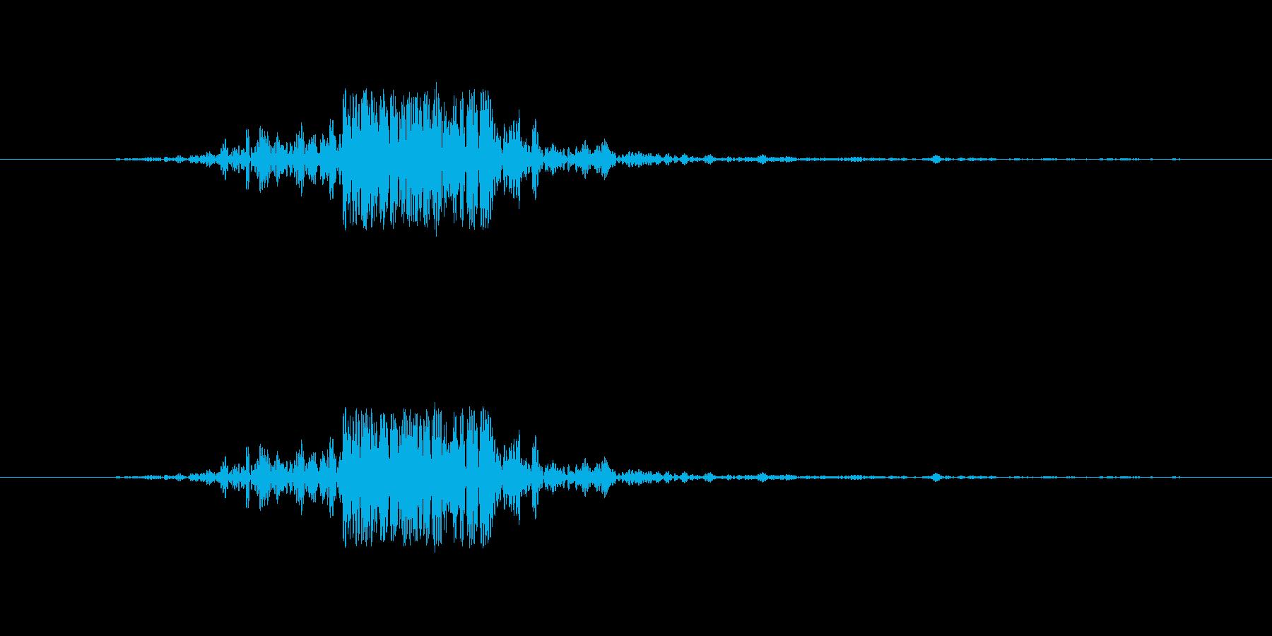 映画の効果音 その4の再生済みの波形