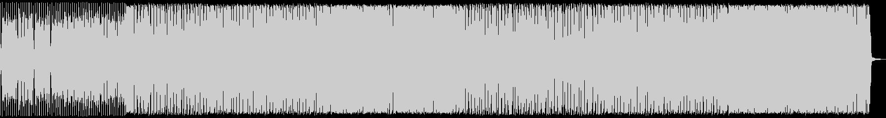 アニメなどの緊迫シーンにシンプルなロックの未再生の波形