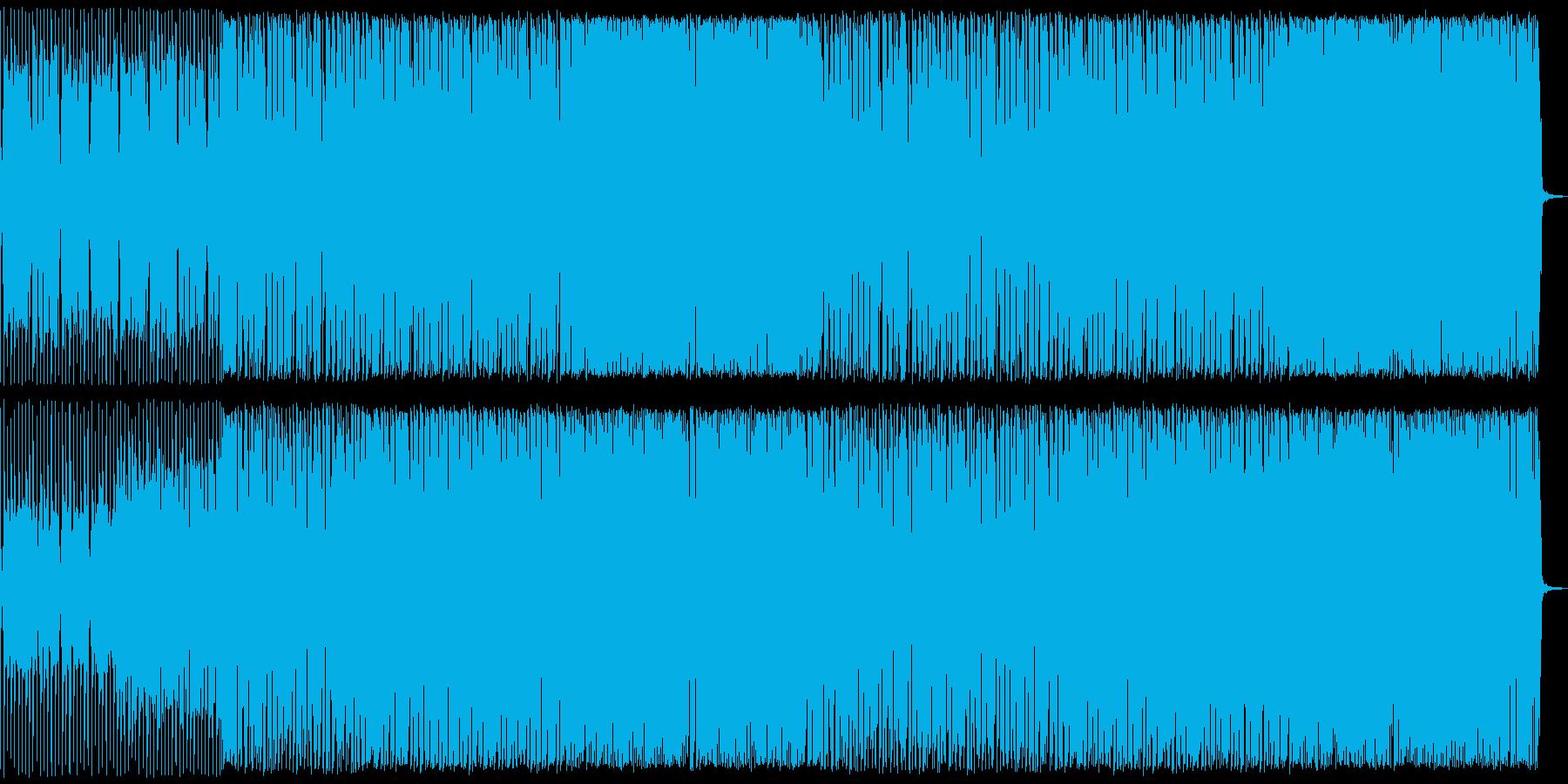 アニメなどの緊迫シーンにシンプルなロックの再生済みの波形