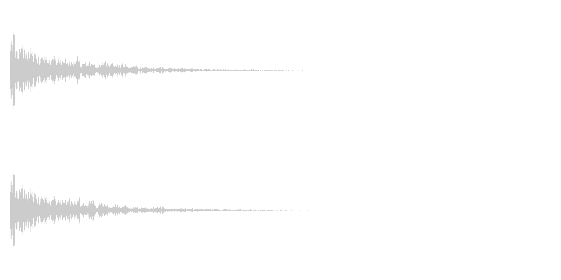 【アクセント09-1】の未再生の波形
