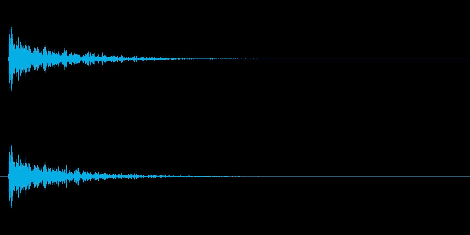 【アクセント09-1】の再生済みの波形