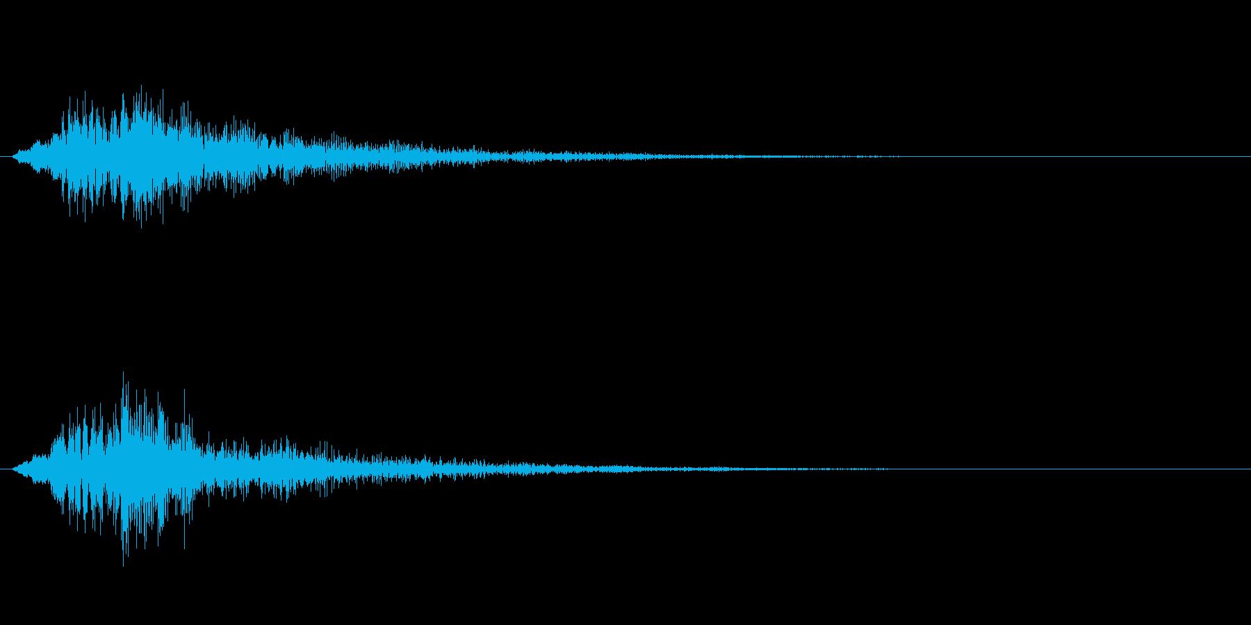 ホラー系や決定音などの再生済みの波形