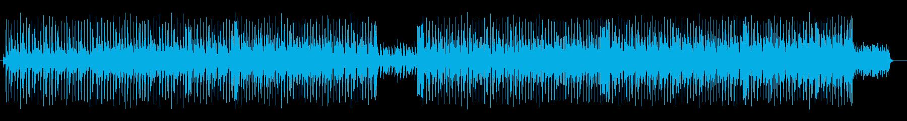 ミドルテンポのロックなダンスチューンの再生済みの波形