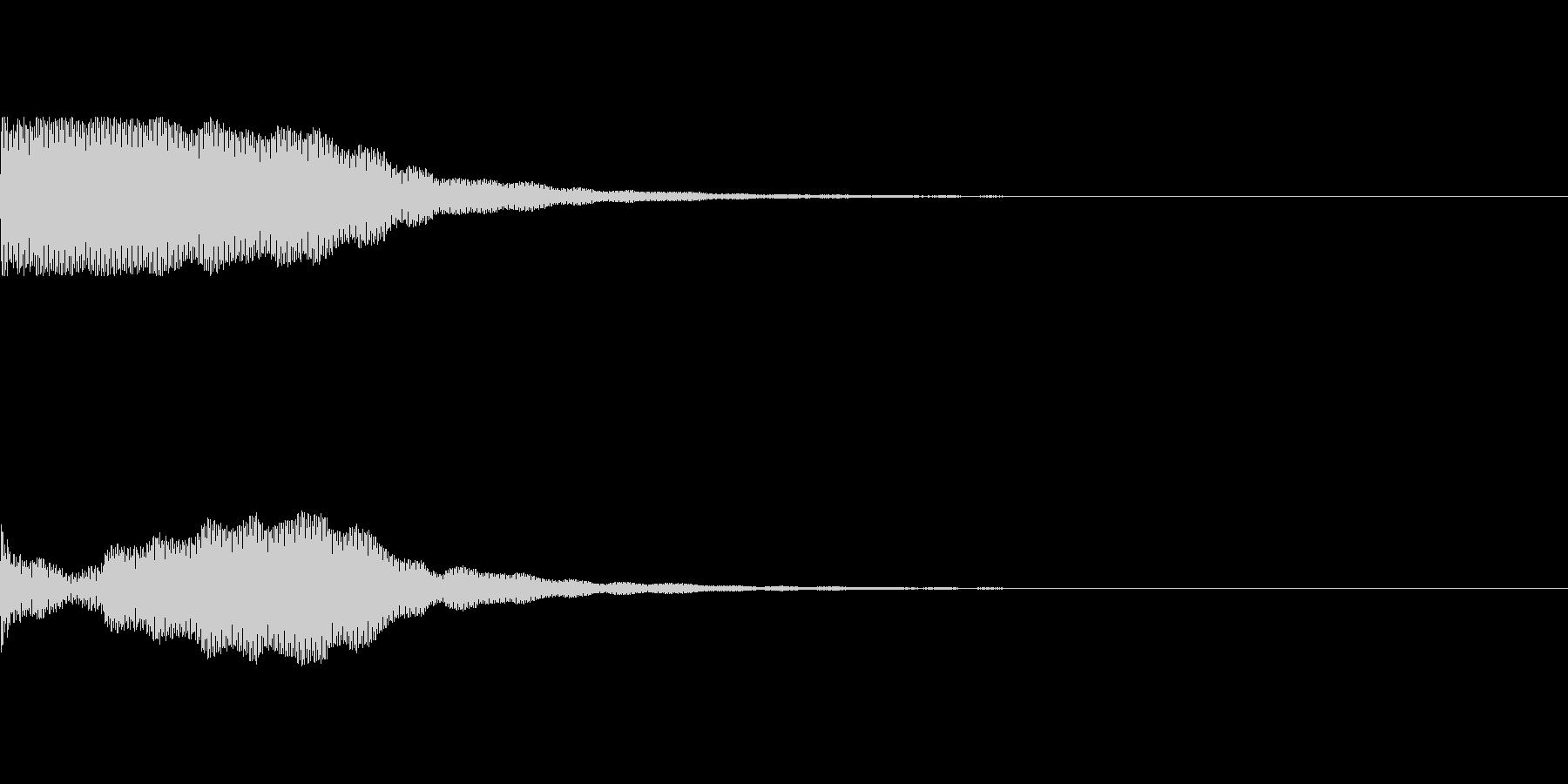 【ホラー】不気味な金属音の未再生の波形