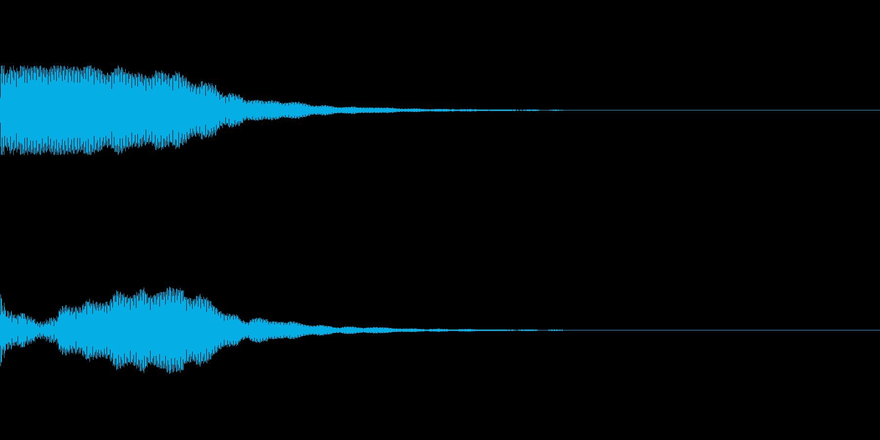 【ホラー】不気味な金属音の再生済みの波形