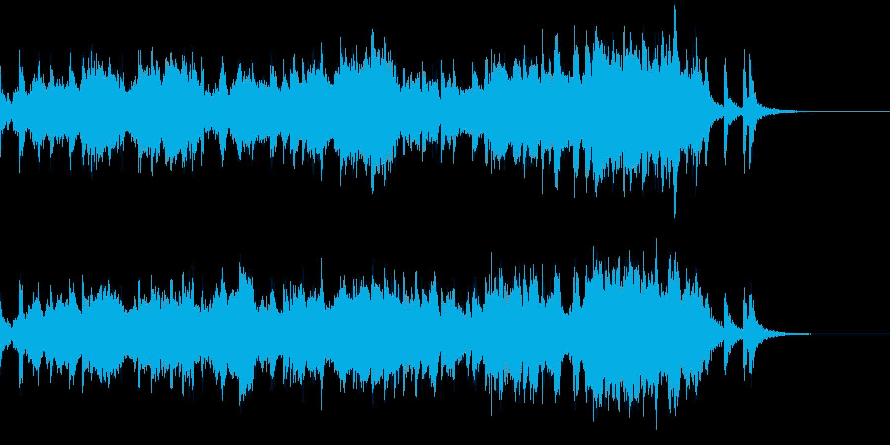 戦闘シーン向けの緊迫感漂う楽曲ですの再生済みの波形