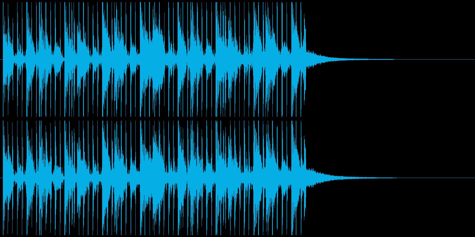 オープニングジングル 迫力リズムと疾走感の再生済みの波形