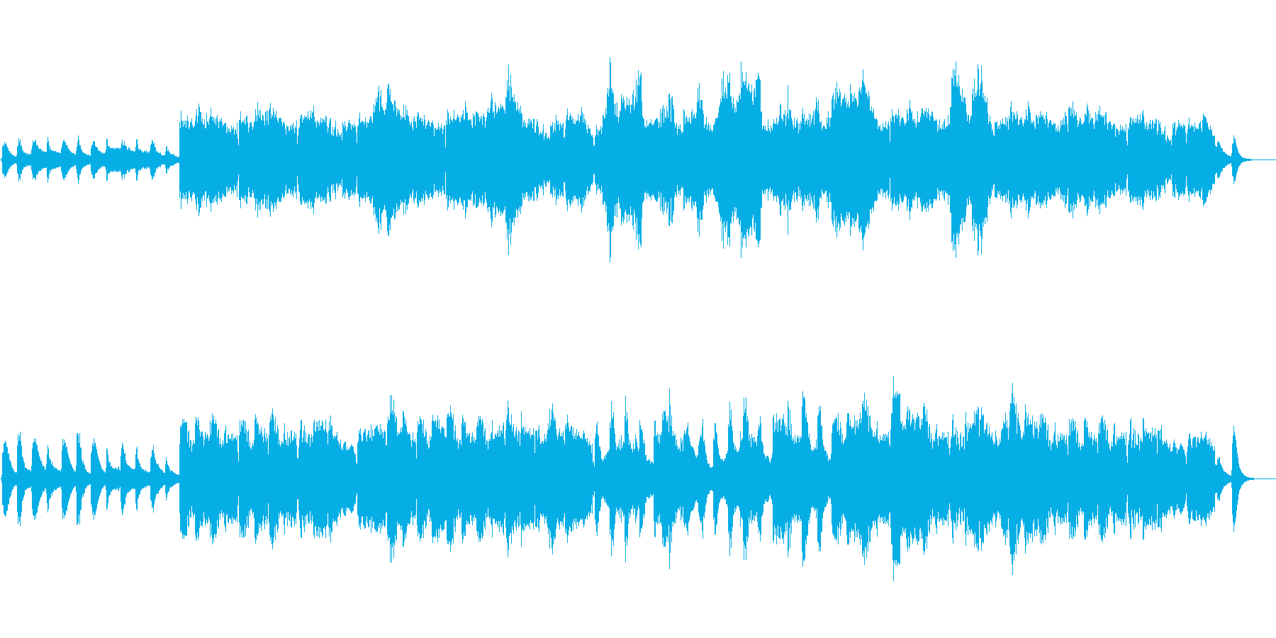 冬 雪 荒涼とした石山 ボーカライズの再生済みの波形
