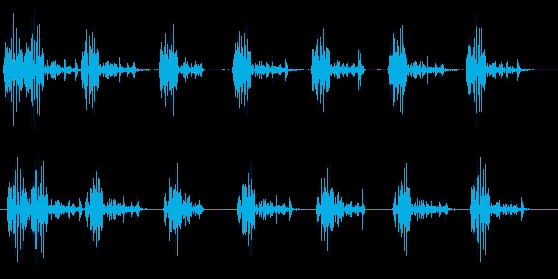 レトロなタイプライターの再生済みの波形