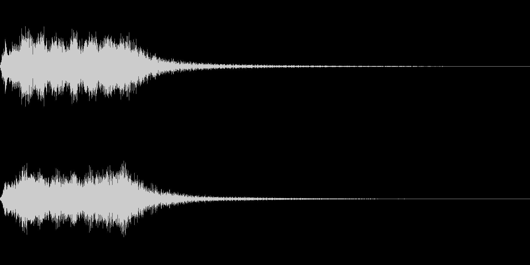 明るいストリング系ジングルBの未再生の波形