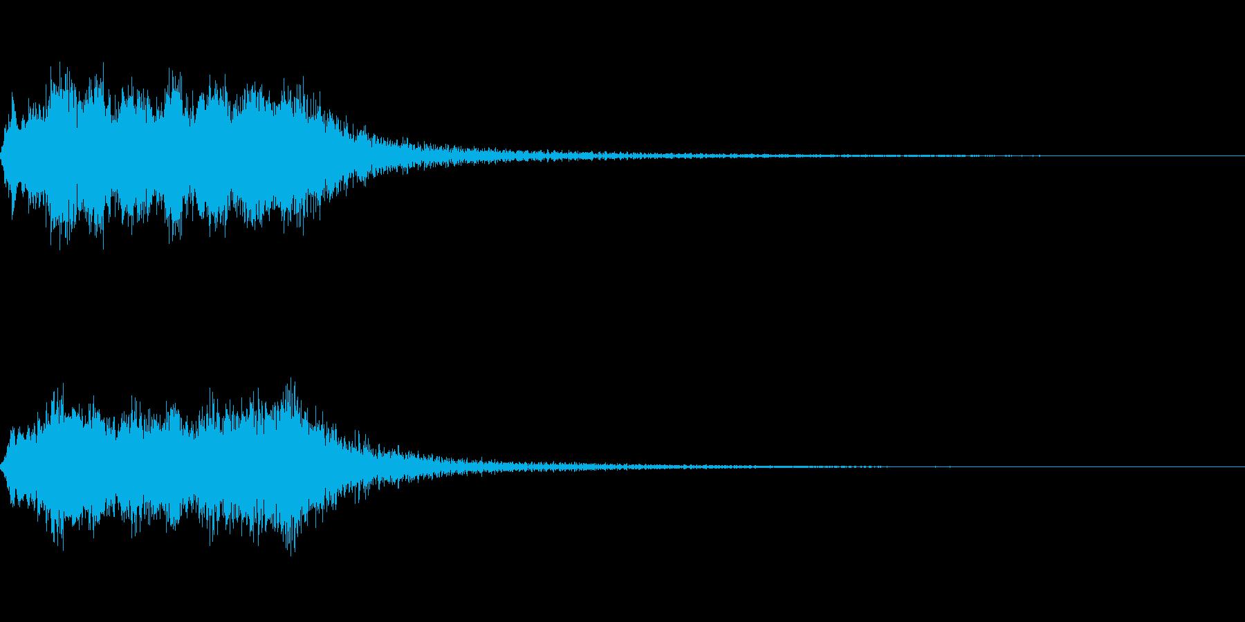 明るいストリング系ジングルBの再生済みの波形