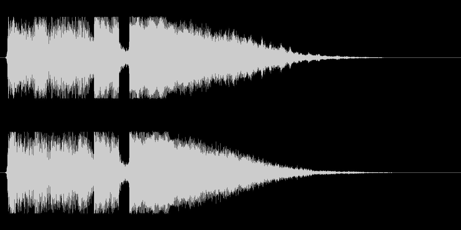 ギターアルペジオとシンセのジングルの未再生の波形