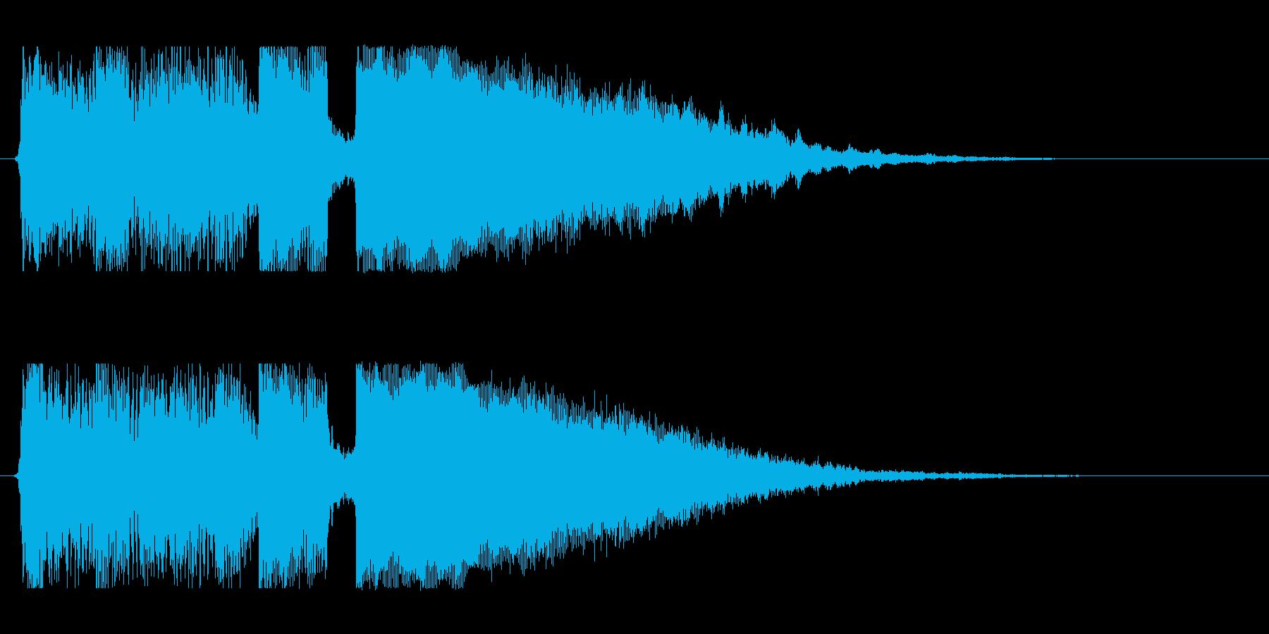 ギターアルペジオとシンセのジングルの再生済みの波形