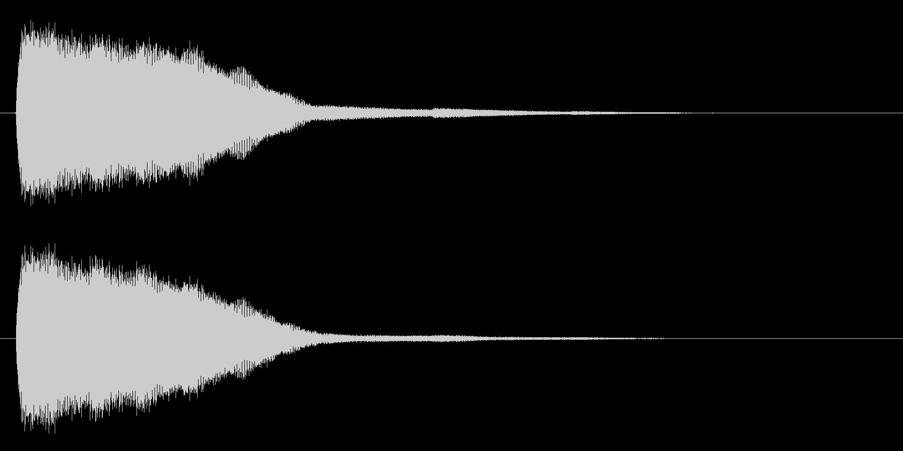 キン (短い金属音で決定音)の未再生の波形