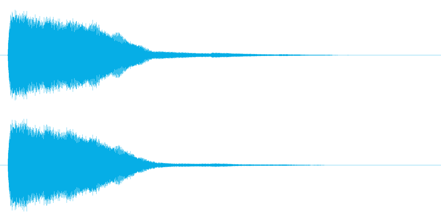 キン (短い金属音で決定音)の再生済みの波形