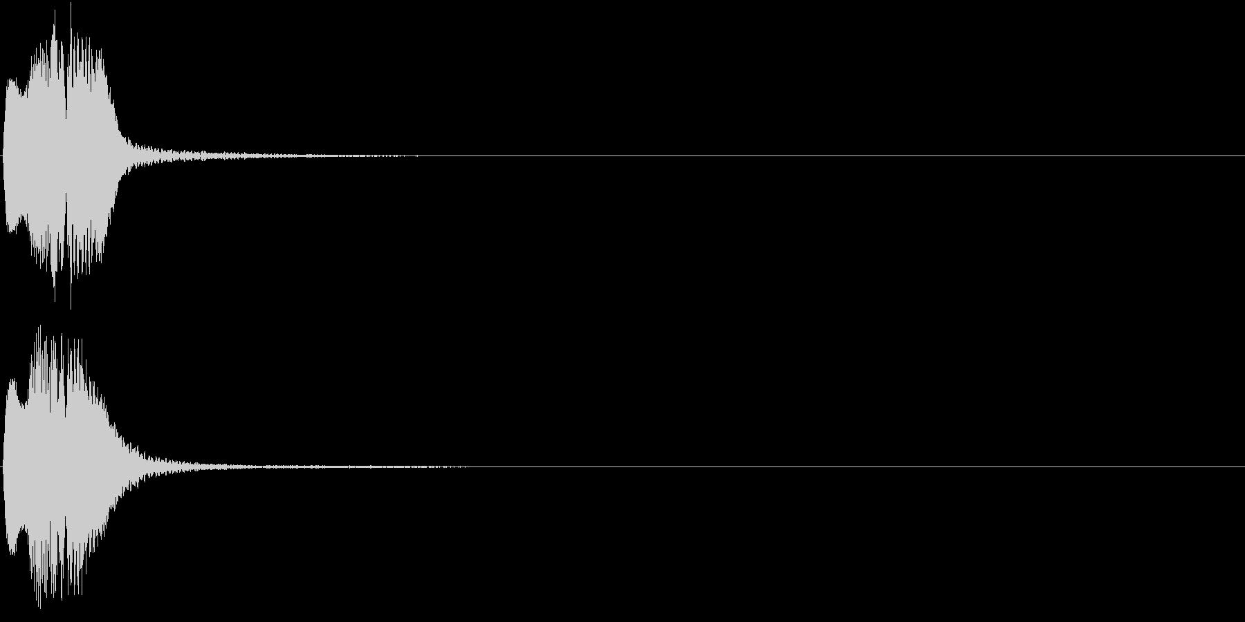 ボタン クリック コイン クレジット 2の未再生の波形