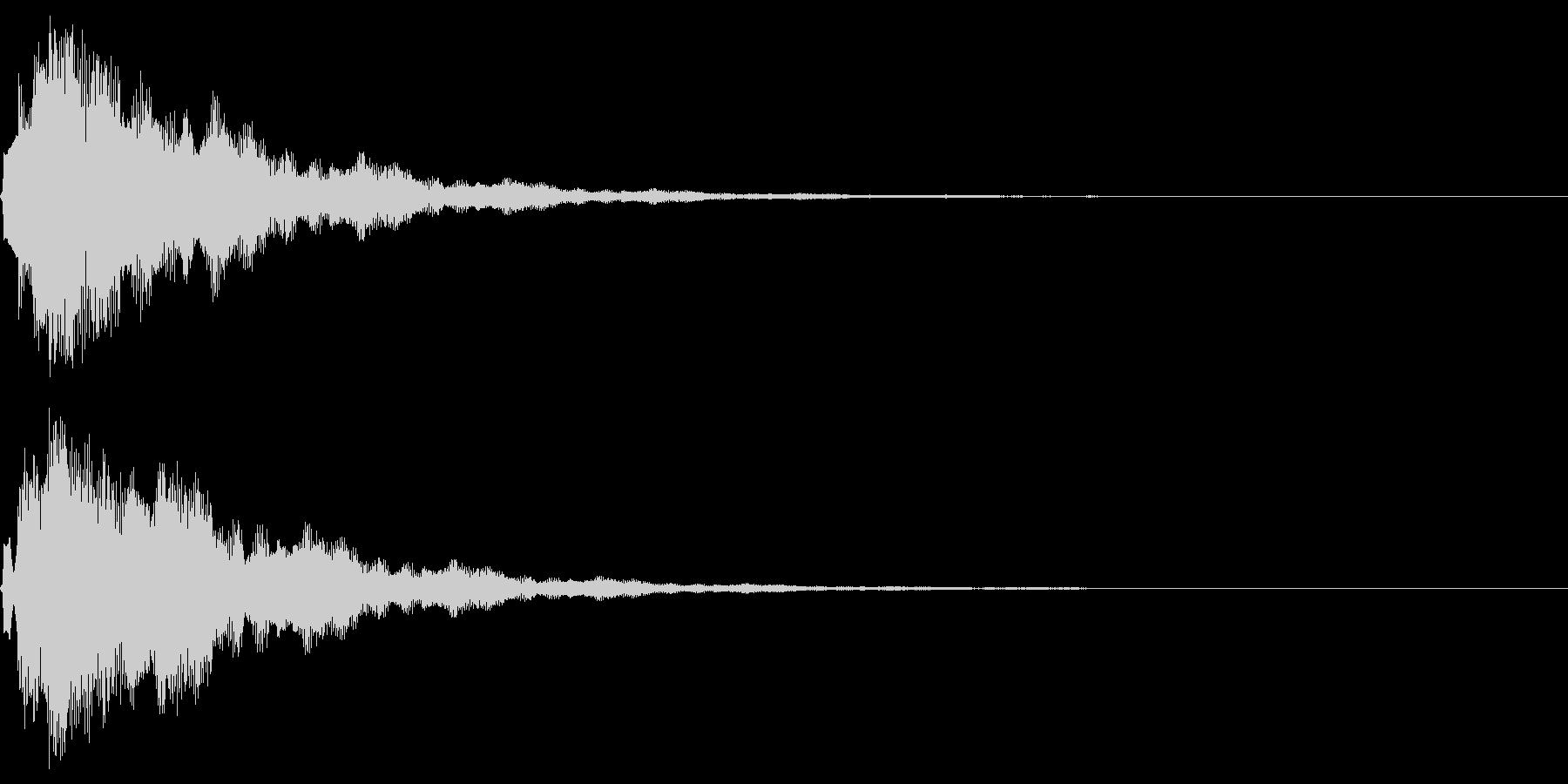 サウンドロゴ10(ベル系)の未再生の波形
