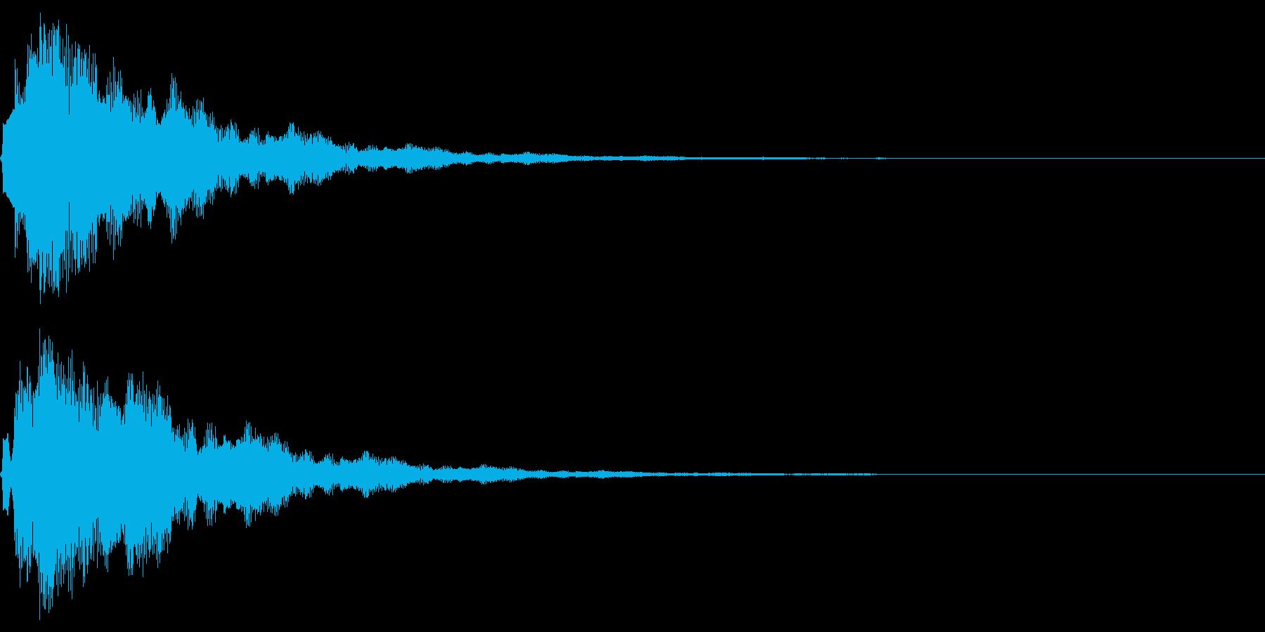 サウンドロゴ10(ベル系)の再生済みの波形