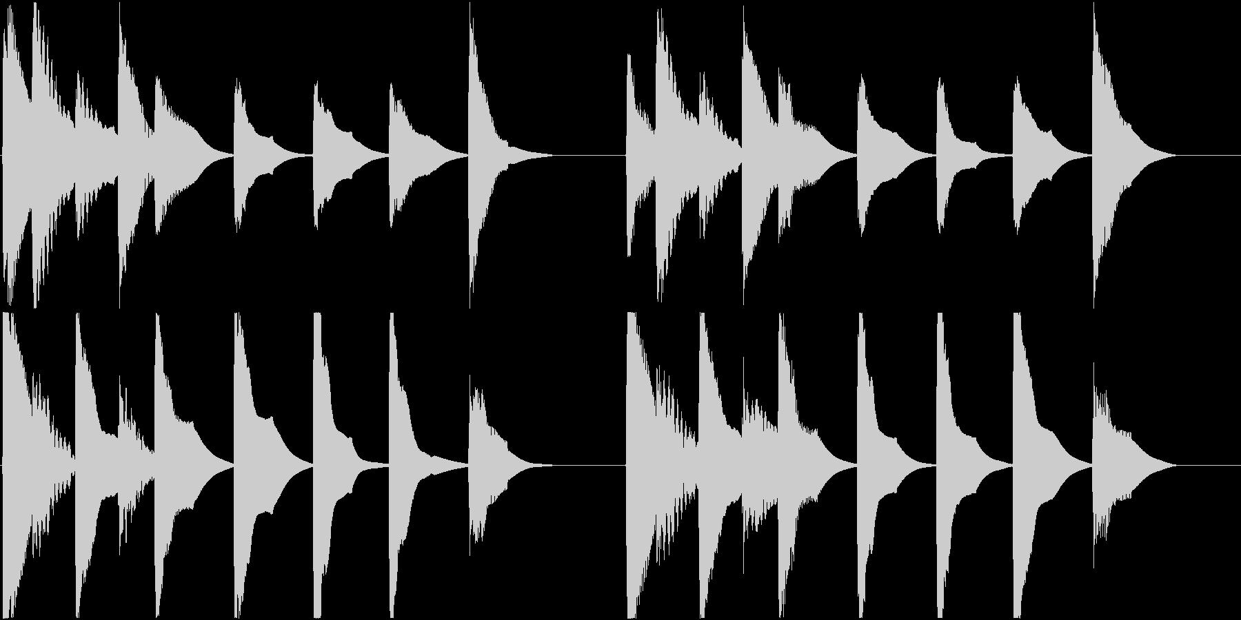 着信音 ループ お知らせ 通知 7の未再生の波形