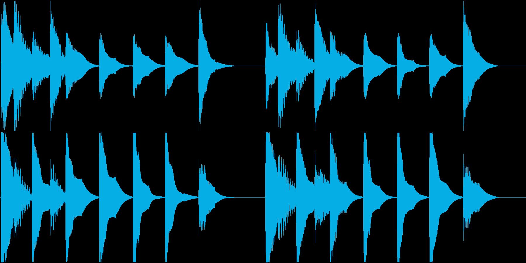 着信音 ループ お知らせ 通知 7の再生済みの波形