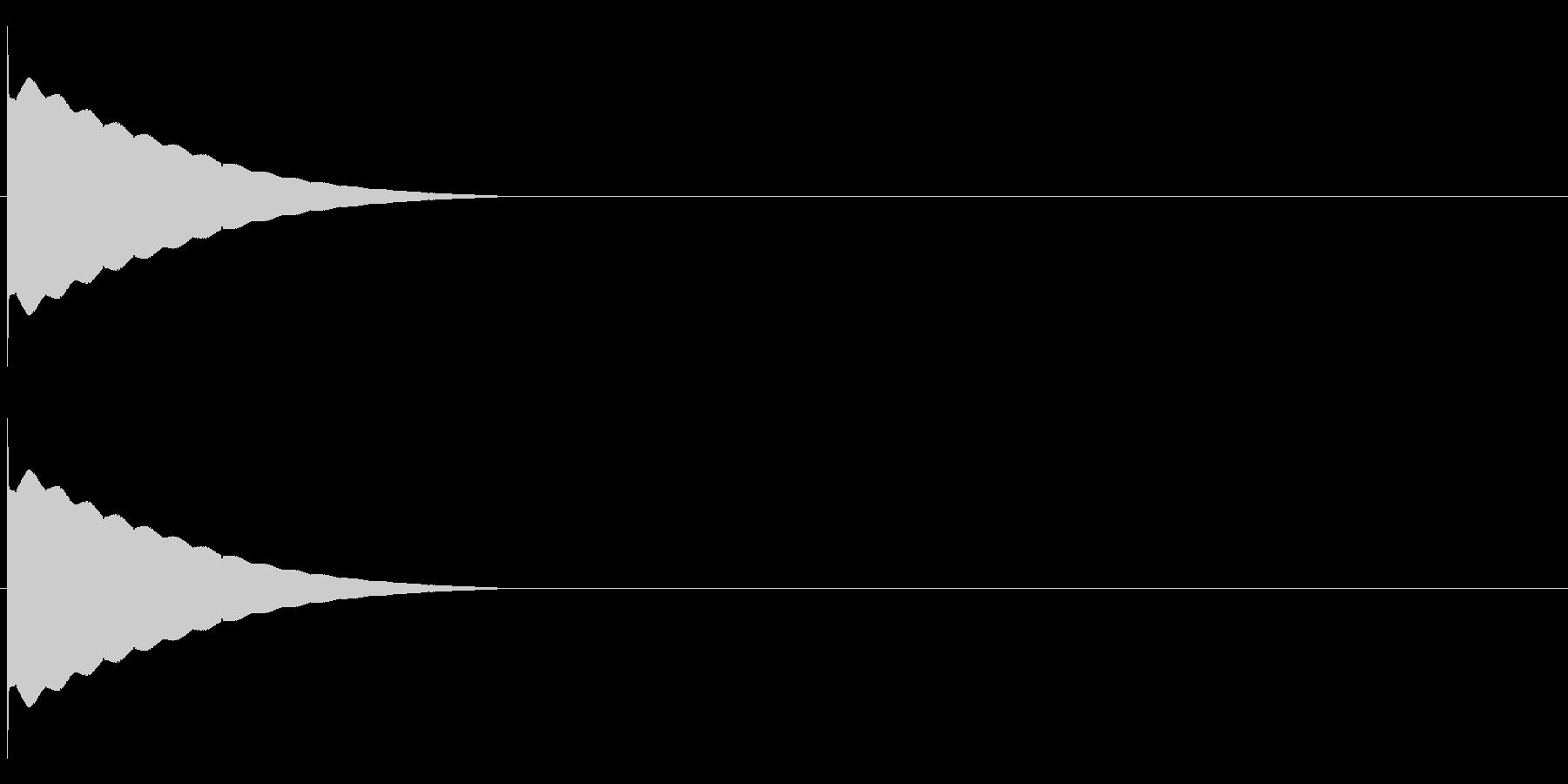 ピョンー(電子音)の未再生の波形