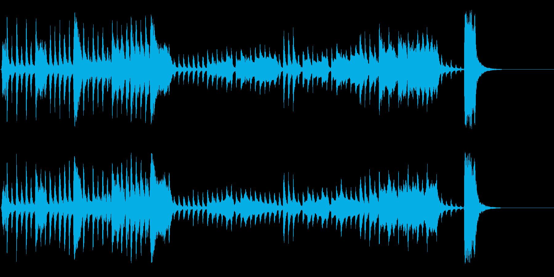 コミカルで少し怪しいオーケストラ曲の再生済みの波形