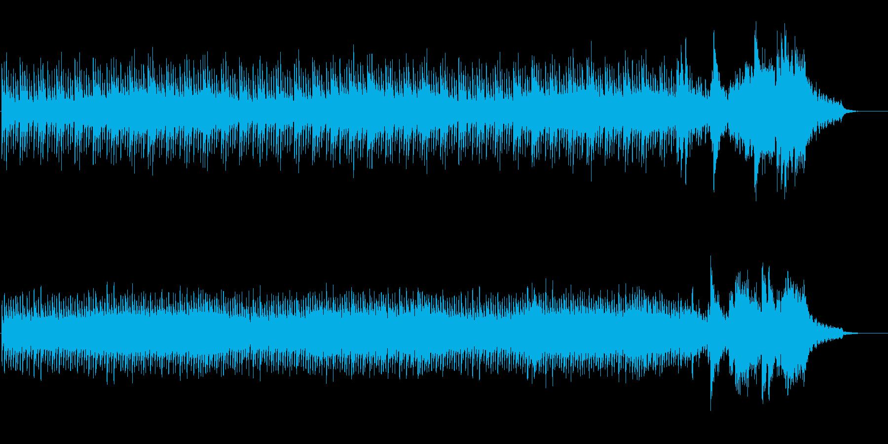 ホラー、気持ち悪いピアノ曲の再生済みの波形