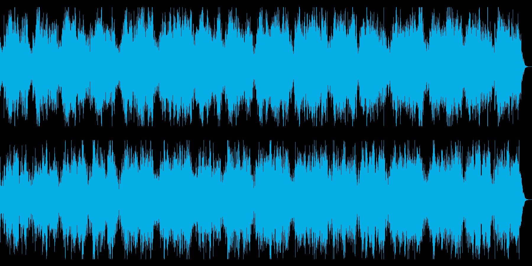 ダークで緩やかなBGM 恐怖感の演出の再生済みの波形
