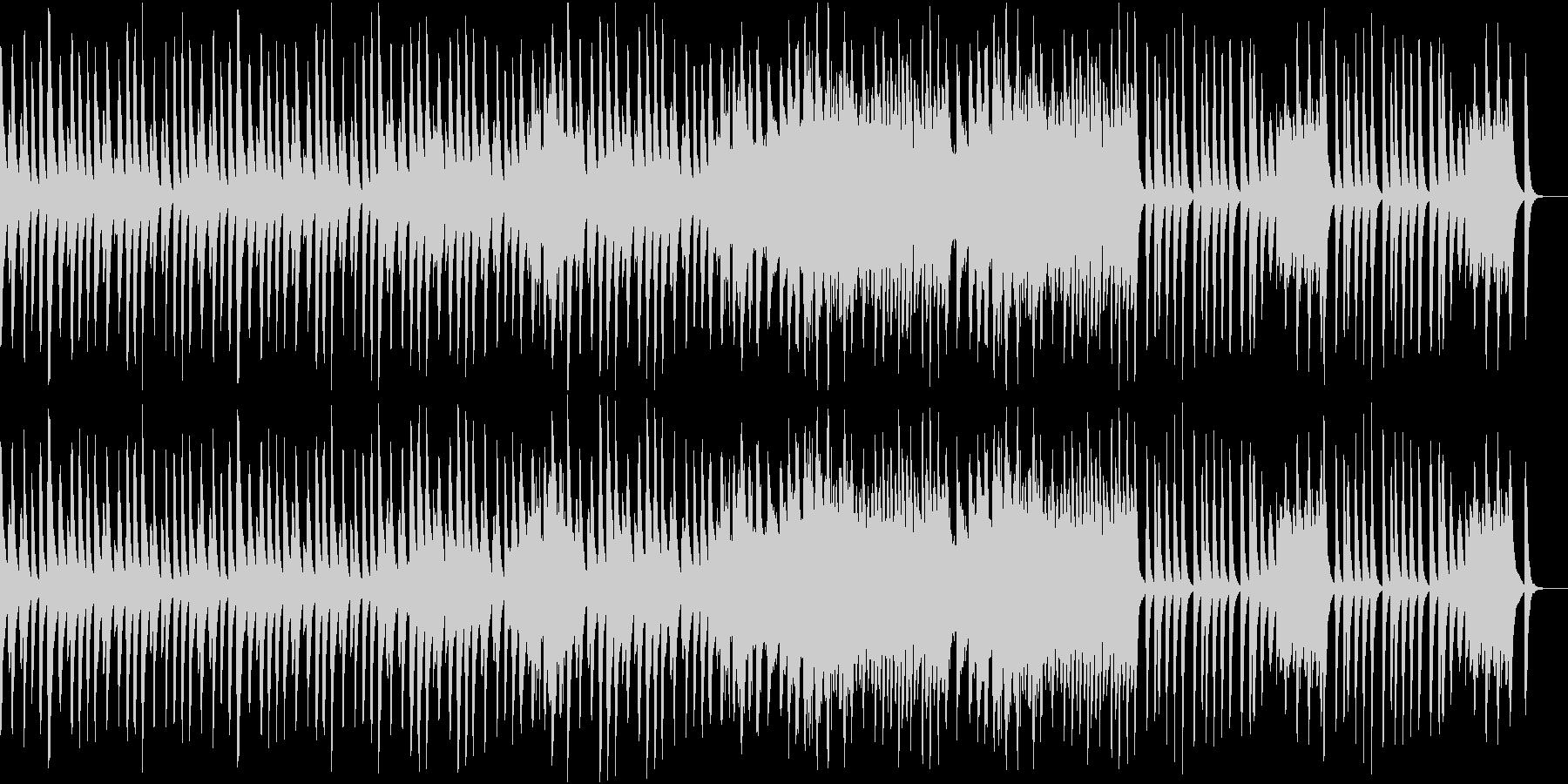 楽しげな雰囲気の木琴の曲の未再生の波形