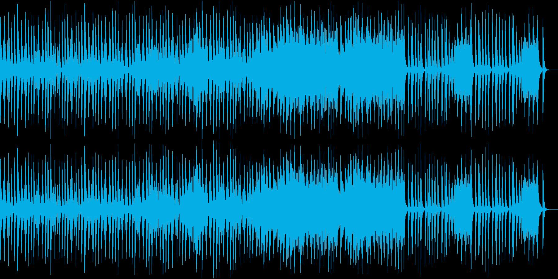 楽しげな雰囲気の木琴の曲の再生済みの波形