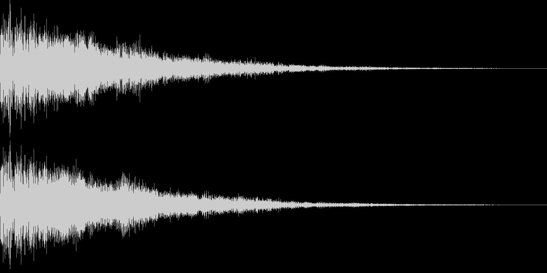 勢いのある電子音、決定音、スタートの未再生の波形