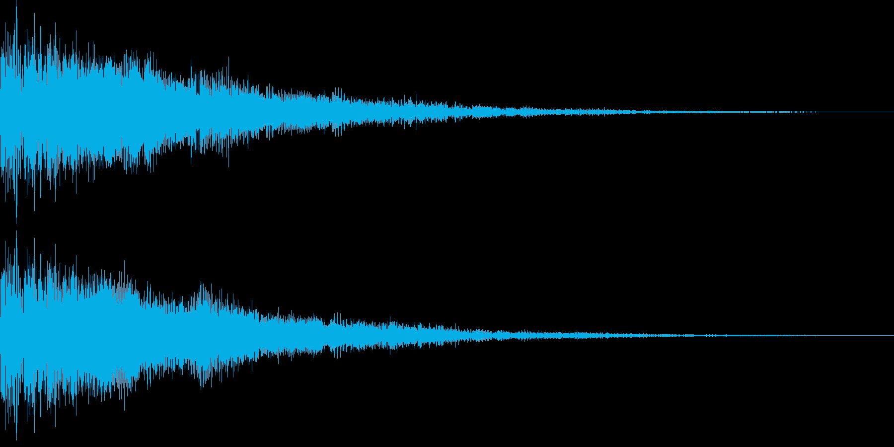 勢いのある電子音、決定音、スタートの再生済みの波形