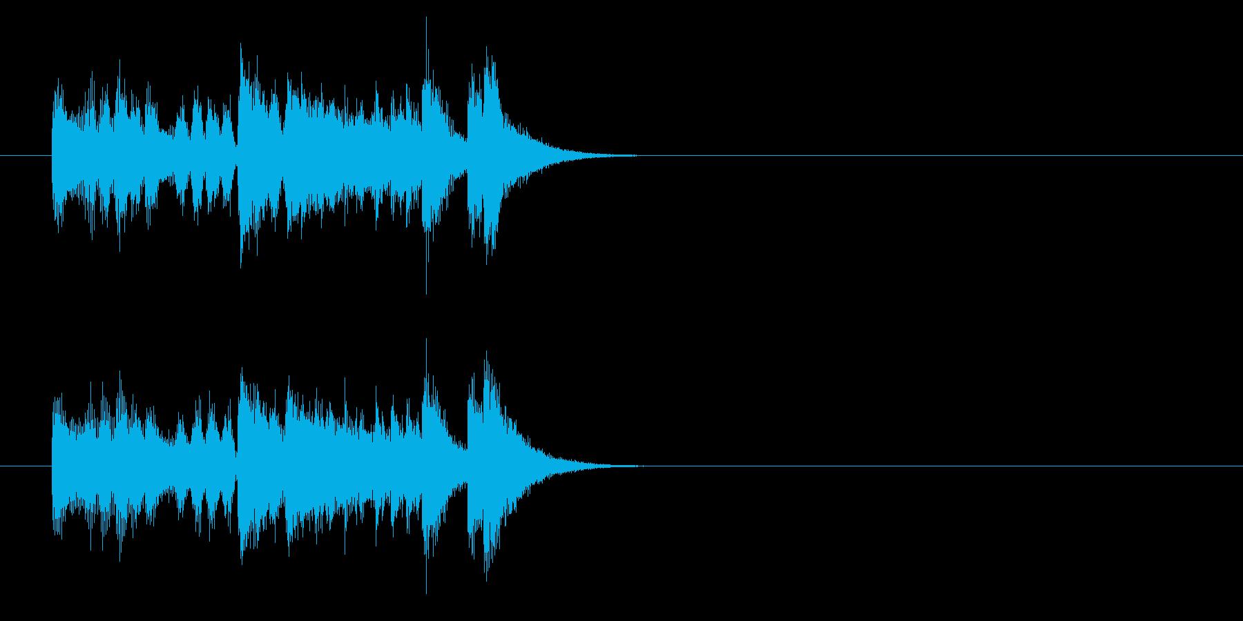 ジングル(痛快ポップス風)の再生済みの波形