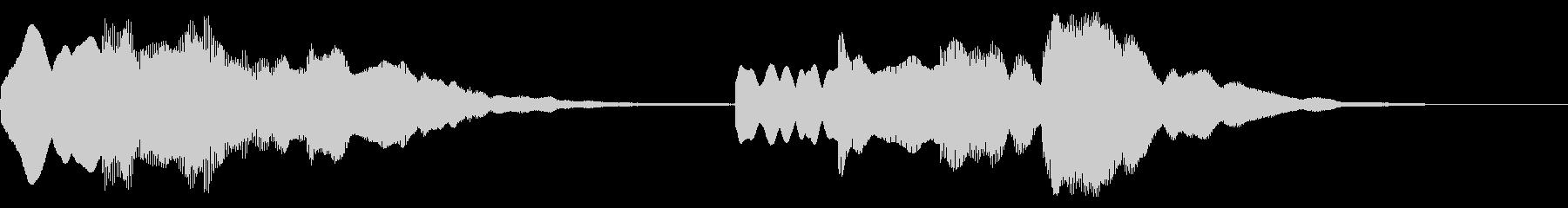 ピンポンパンポン ↑↓ 案内 館内放送の未再生の波形