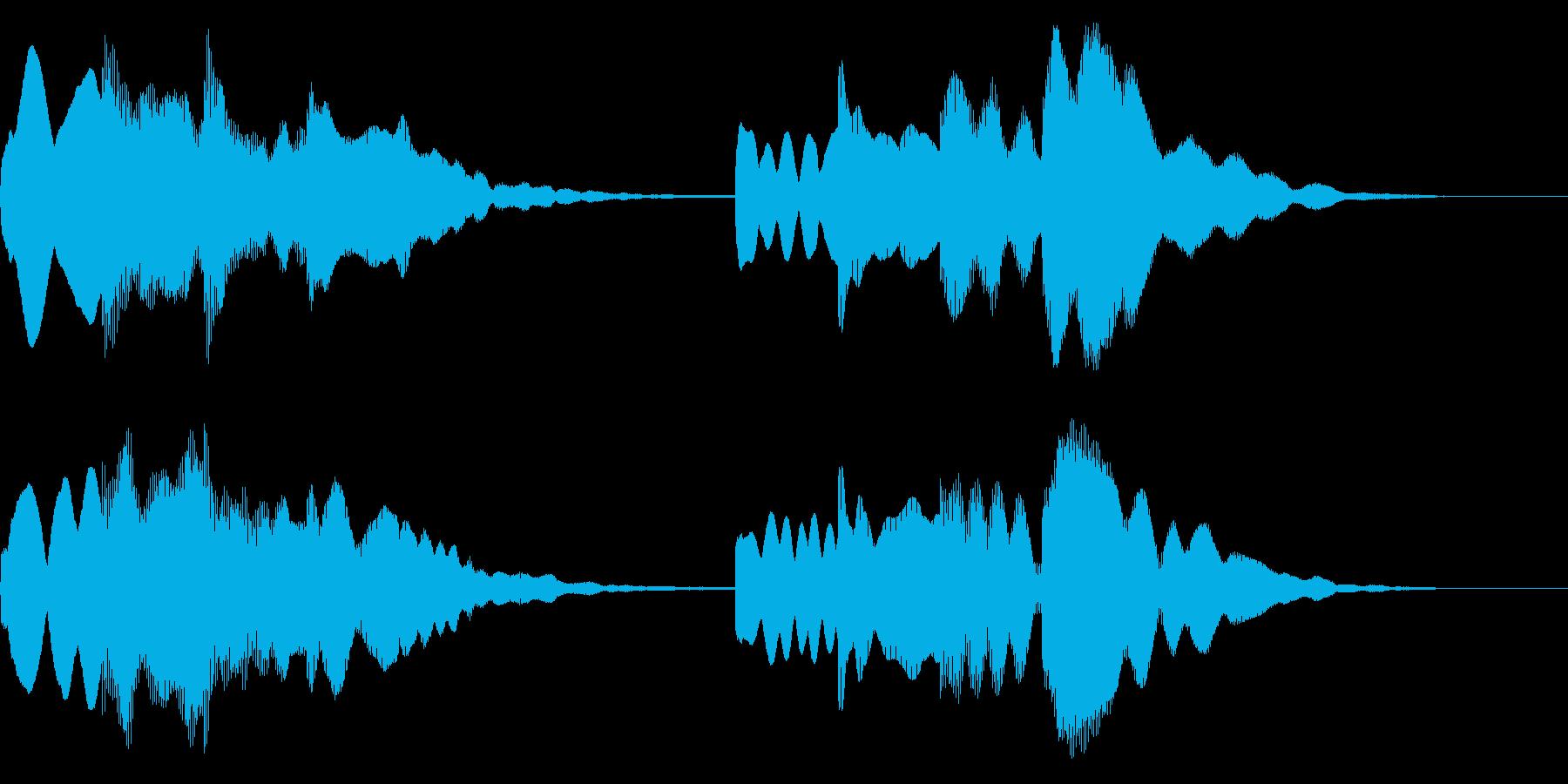 ピンポンパンポン ↑↓ 案内 館内放送の再生済みの波形
