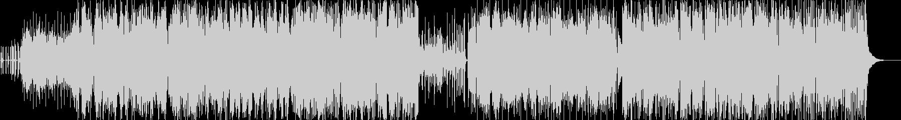 カエルの声とサルサ音楽の未再生の波形