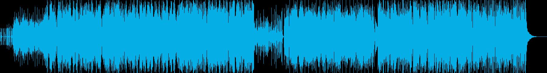 カエルの声とサルサ音楽の再生済みの波形