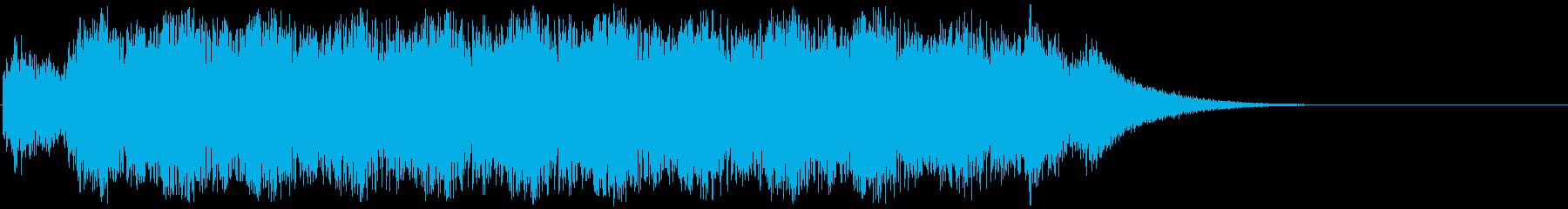 アニメにありそうなバルカン砲(音程高め)の再生済みの波形
