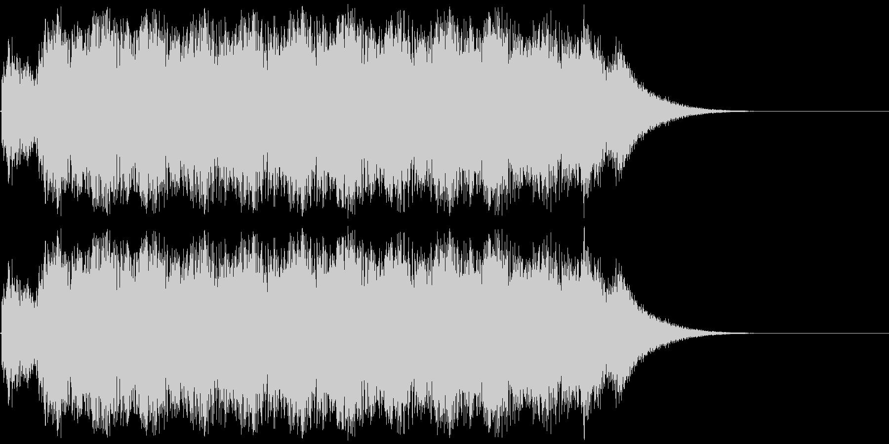 アニメにありそうなバルカン砲(音程高め)の未再生の波形
