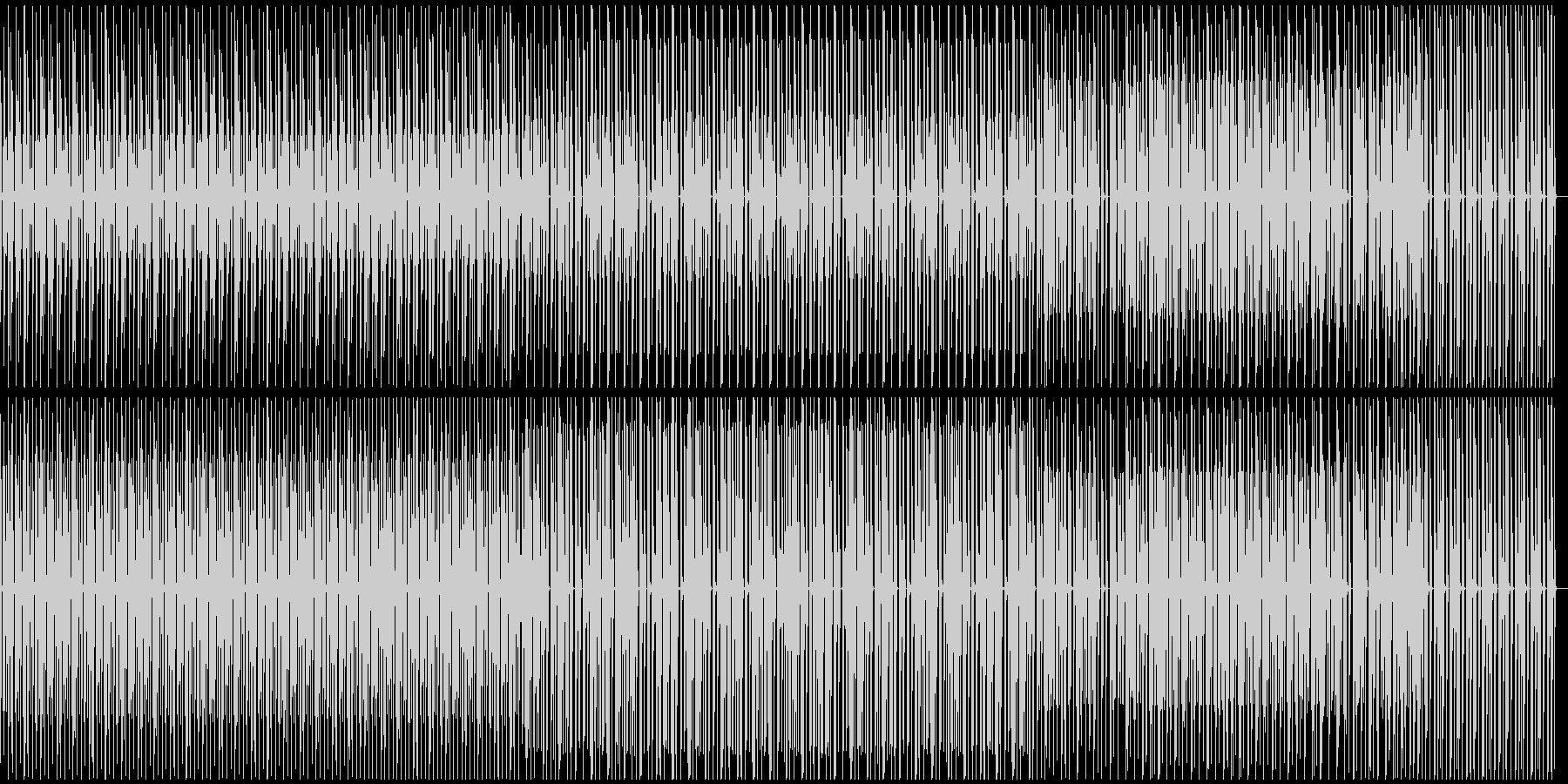 淡々としているテクノの未再生の波形