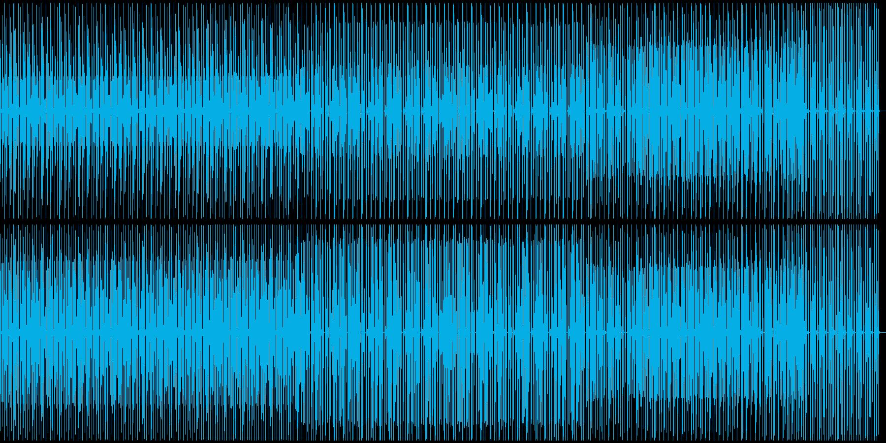 淡々としているテクノの再生済みの波形