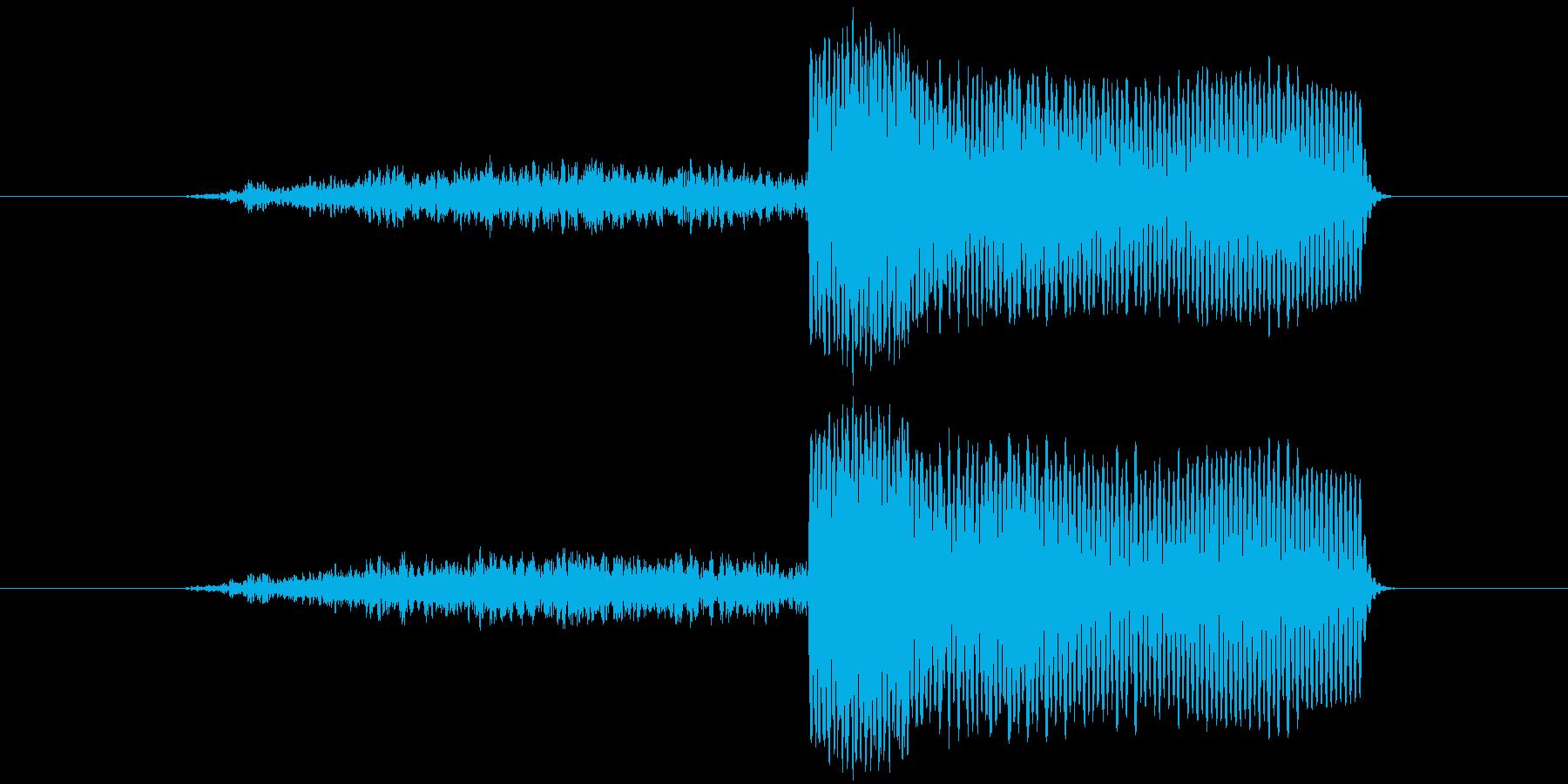 ロボットが起動する時の音の再生済みの波形